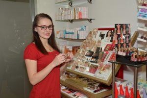 Michelle und die Produktpalette