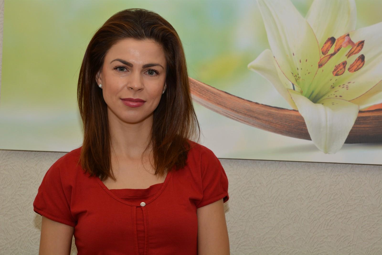 Boryana, eine Angestellte